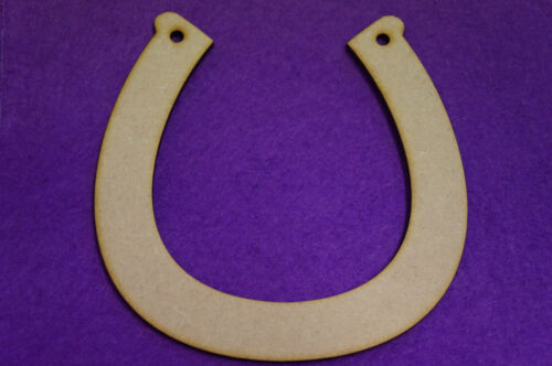 4 x Horseshoe 11.5x11.5cm//115x115mm MDF laser cut wooden shape