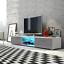 Edith-Meuble-TV-140-cm-Noir-Blanc-Gris-Brun-Avec-L-eclairage-LED-Bleu-design