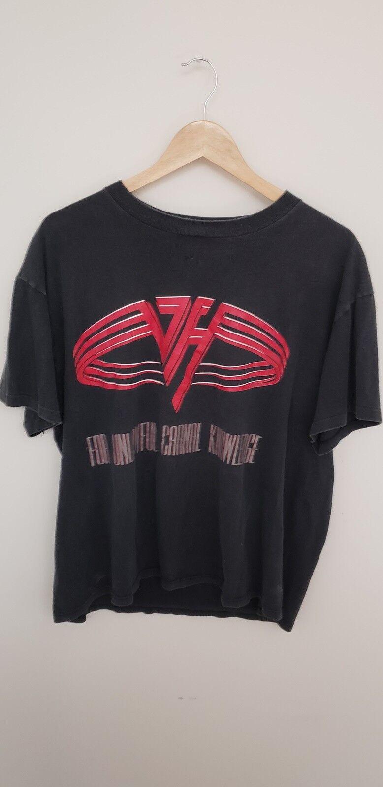 Vintage 90's Van Halen For Unlawful Carnal Knowledge Charlotte NC Shirt - XL