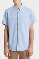 Maddox Mickey Printed Short Sleeve Shirt Blue