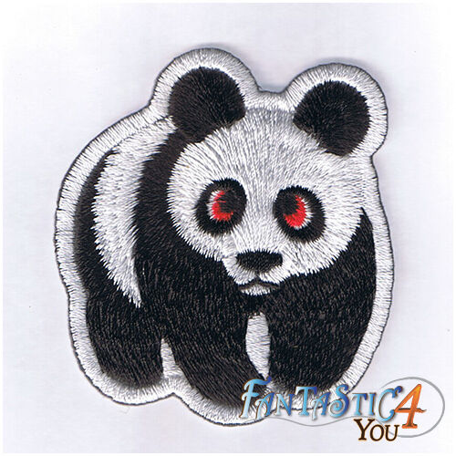 PANDA CHINA CARTOON CUTE SUPER NEW RACING APPLIQUE EMBROIDERED IRON ON PATCH