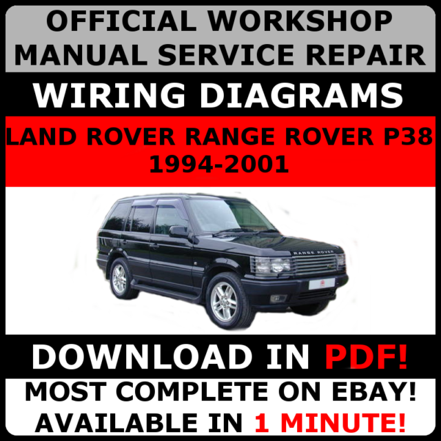 # OFFICIAL WORKSHOP Service Repair MANUAL LAND ROVER RANGE ROVER P38 on