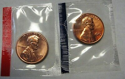 1989 RED Lincoln Cent BU In MINT CELLO FREE SHIPPING ON ADDITIONAL COINS