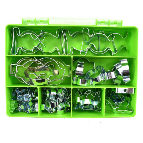 85 PIECE TOOL SPRING TERRY CLIPS HEAVY DUTY OPEN//CLOSED ASSORTED WALL MOUNT KIT