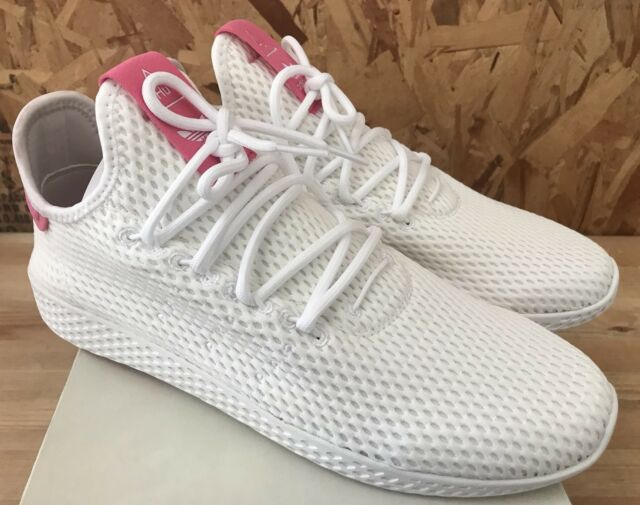 3284be3a91300 adidas PW Tennis HU White Pink Sz 9 By8714 Pharrell for sale online ...