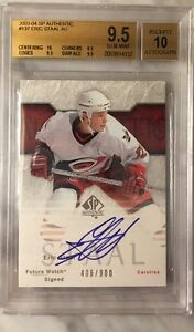 2003-2004-SP-Authentic-Eric-Staal-RC-FUTURE-WATCH-AUTO-406-900-BGS-9-5-PSA-10