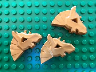 Lego GOLDEN HORSE HEAD GEAR QTY3 Castle Knights Kingdoms Armour NEW