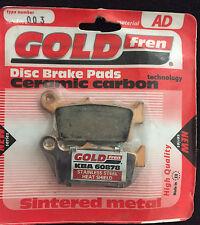 Gold Fren AD Rear Brake Pads Suzuki RM Kawasaki KX Yamaha YZ/F WR 125 250 426 TM