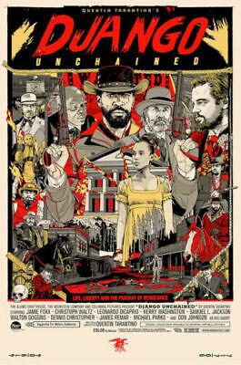 Django Unchained Movie Art Silk Poster 12x18 24x36