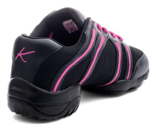 Rose Entraînement Danse Baskets Noir Et Jazz Katz Chaussures Semelle Par Divisée 6H5FxYq