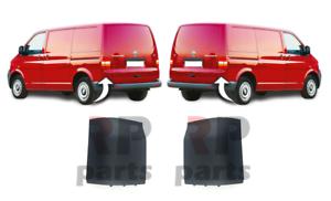 FOR-VW-TRANSPORTER-T5-03-09-REAR-BUMPER-PLASTIC-MOLDING-TRIM-FOR-PAINTING-PAIR