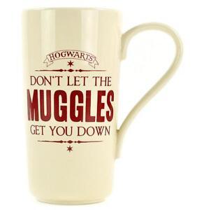Harry-Potter-Latte-Macchiato-Becher-MUGGLES-Hogwarts-Kaffeetasse-Merch-500ml-NEU