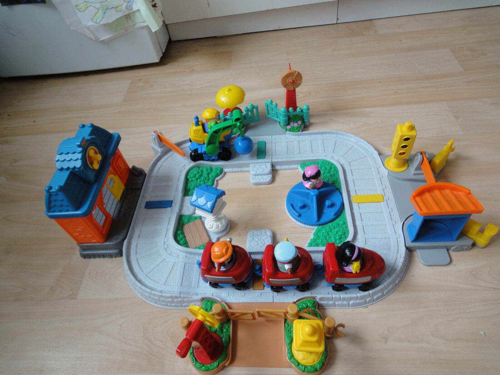 Fisher Price Little People geräusche Eisenbahn Zug mit Bagger