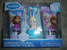 NEW Disney Frozen Elsa Soap & Scrub set Shampoo body wash & bath scrubby