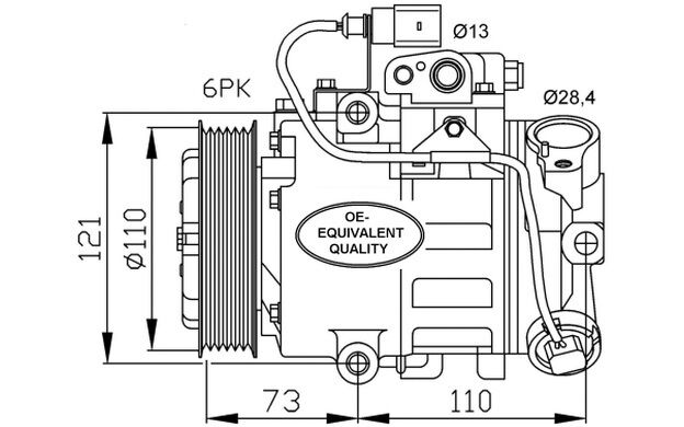 NRF Compresor, aire acondicionado SEAT IBIZA CORDOBA VOLKSWAGEN GOLF AUDI 32225