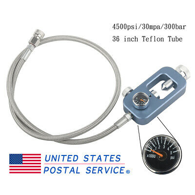 4500Psi Scuba Valve Fill Adapter Hose with 8mm Quick Disconnect Fill Station US