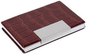 Slim-Genuine-Crocodile-Brown-Leather-with-Slate-Business-Card-Holder