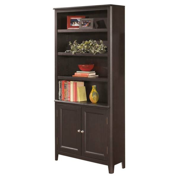Carlyle Large Door Bookcase Almost Black Signature Design By Ashley Online Ebay