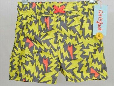 Target brands NEW w//tag Cat /& Jack Toddler 2T Boys Swim Trunks UPF 50
