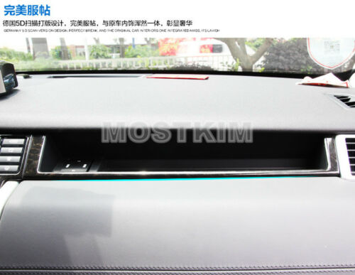 Stainless Glove Box Moulding Cover For Land Rover Discovery Sport(15-18)Black