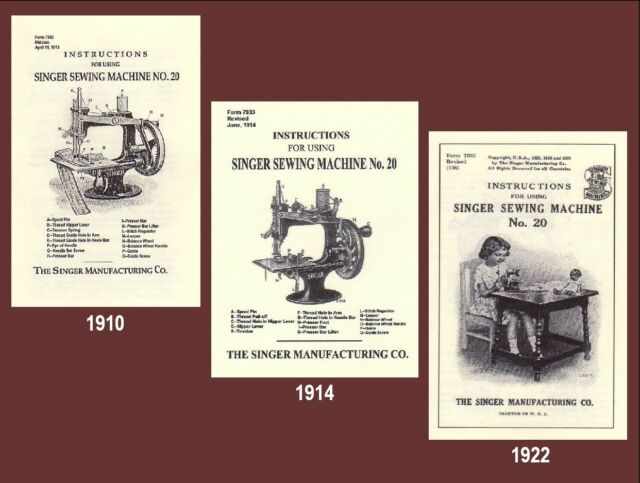 Singer 20 Toy Child Sewhandy Sewing Machine Instructions 1910 1914