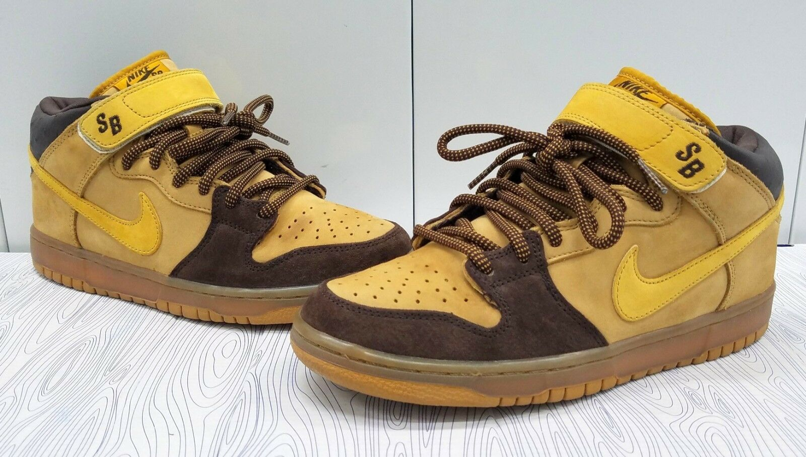 NIKE DUNK SB PRO MID MEN'S SIZE 8 WHEAT/CAPPUCCINO/BRONZE 314383-771 2006 Cheap and beautiful fashion