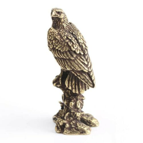 Figurine Eagle Ornament Sculpture Miniature Copper Home Table Animal Decoration