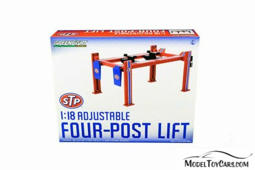 ADJUSTABLE FOUR-POST LIFT STP GREENLIGHT 13555 1//18 scale DIECAST CAR