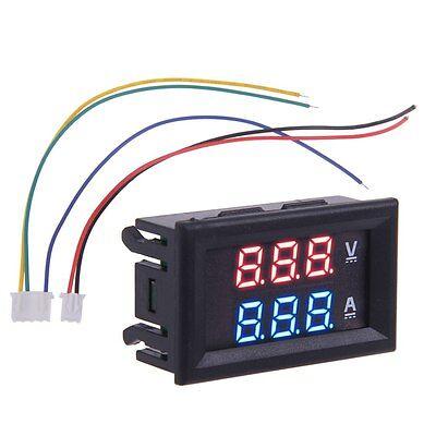 Dual LED DC Digital 100A 100V Ammeter Voltmeter LCD Panel Amp Volt Meter Gauge