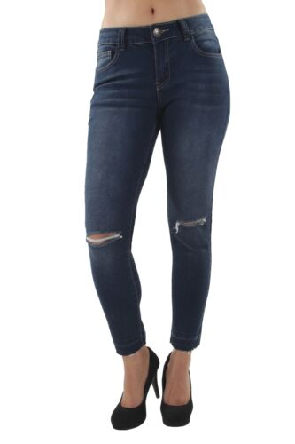 Destroyed Ankle Length Jeans Classic Premium Denim Ripped