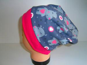 ♥Neu-Handmade♥Hippos♥Beanie♥Mütze♥Kindermütze♥KU 38-58♥Dawanda♥