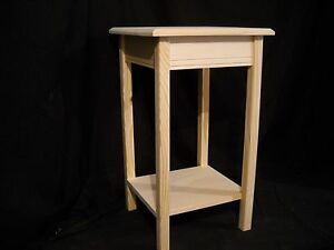Unfinished Wooden Small Dorm Table Night Stand End Table W