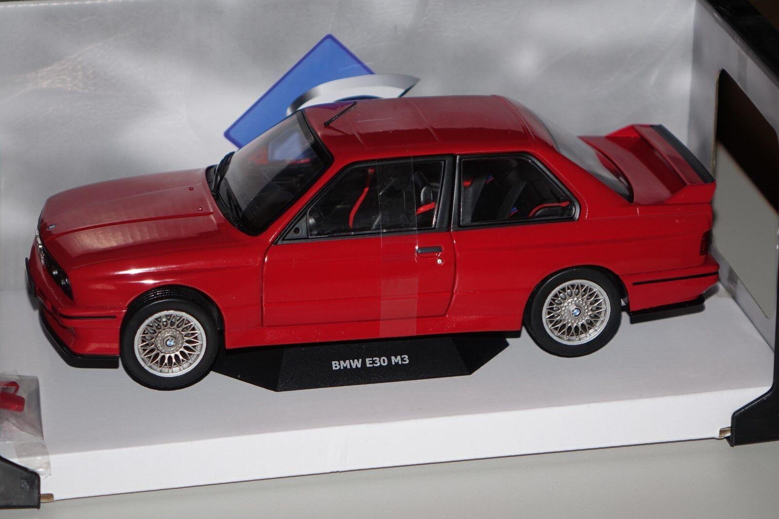 BMW m3 e30 1986 rojo 1 18 solido 118439 NUOVO & OVP