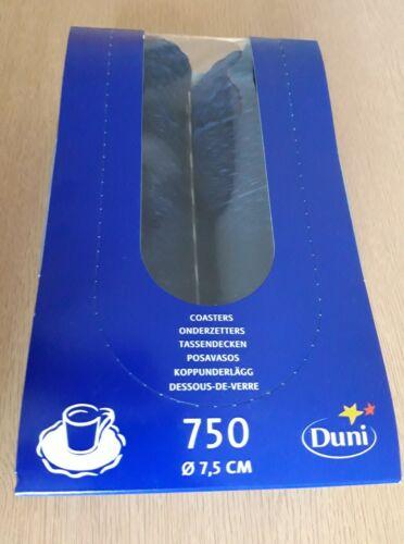 """*** 750 Original verpackte Tassendeckchen von /""""DUNI/"""" blau 9-lagig ***"""