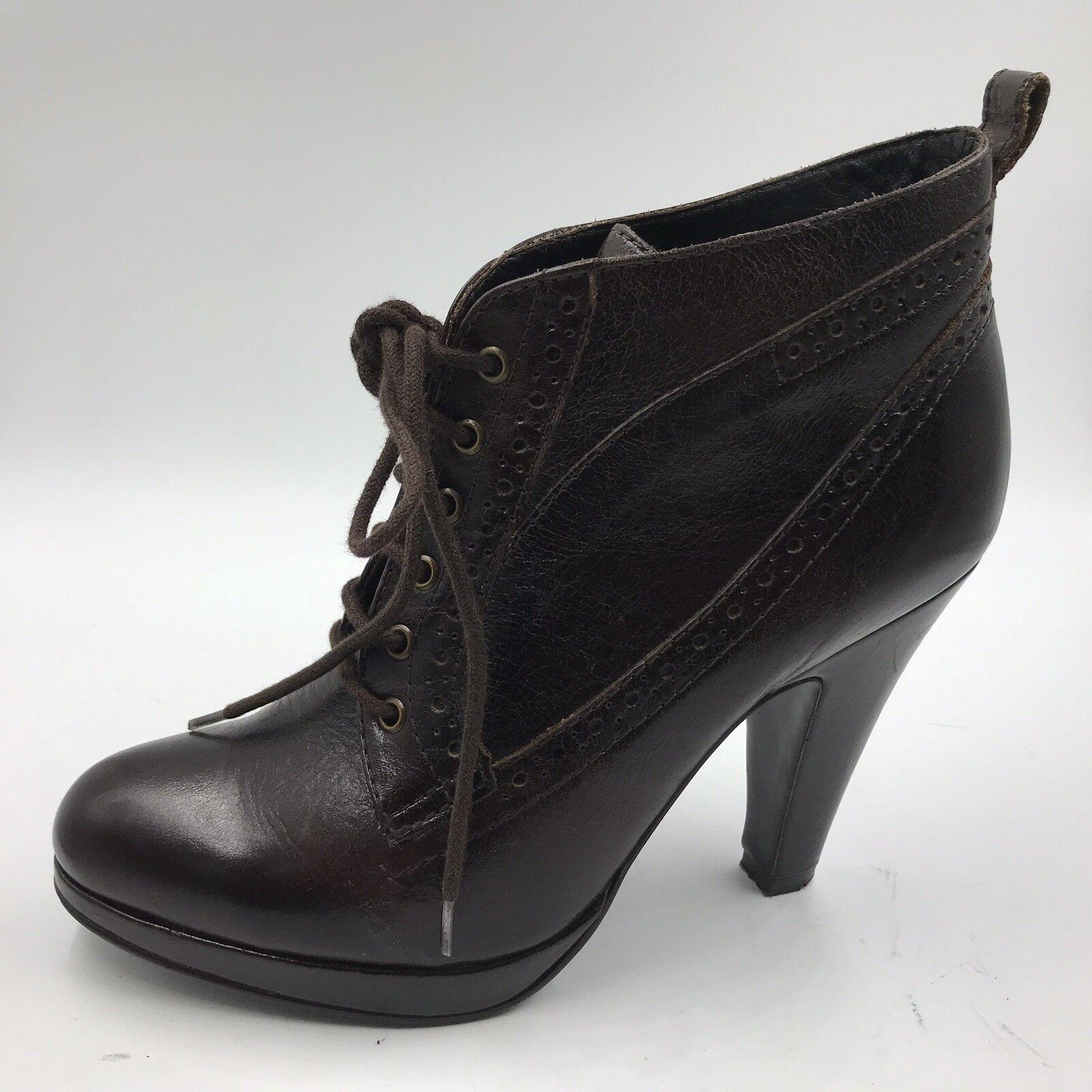 Kurt Geiger KG Sz 39 6 Brown Leather shoes Boots Victorian Steampunk Goth Womens