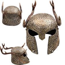 The Elder Scrolls Online Skyrim Elven Helmet w Stag Antlers Elvish Armor Cosplay