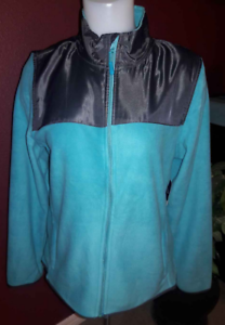 PONY-Sport-All-Weather-Blue-amp-Black-Fleece-Zip-Up-Jacket-Women-039-s-S-Small-NWT