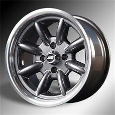 Set 4 Triumph Spitfire and GT6 Minilight Alloy wheels /Rims Black