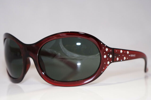 948a55d0c8ba VERSACE Womens Designer Sunglasses Diamante Red Oval MOD 4063 388 71 13754