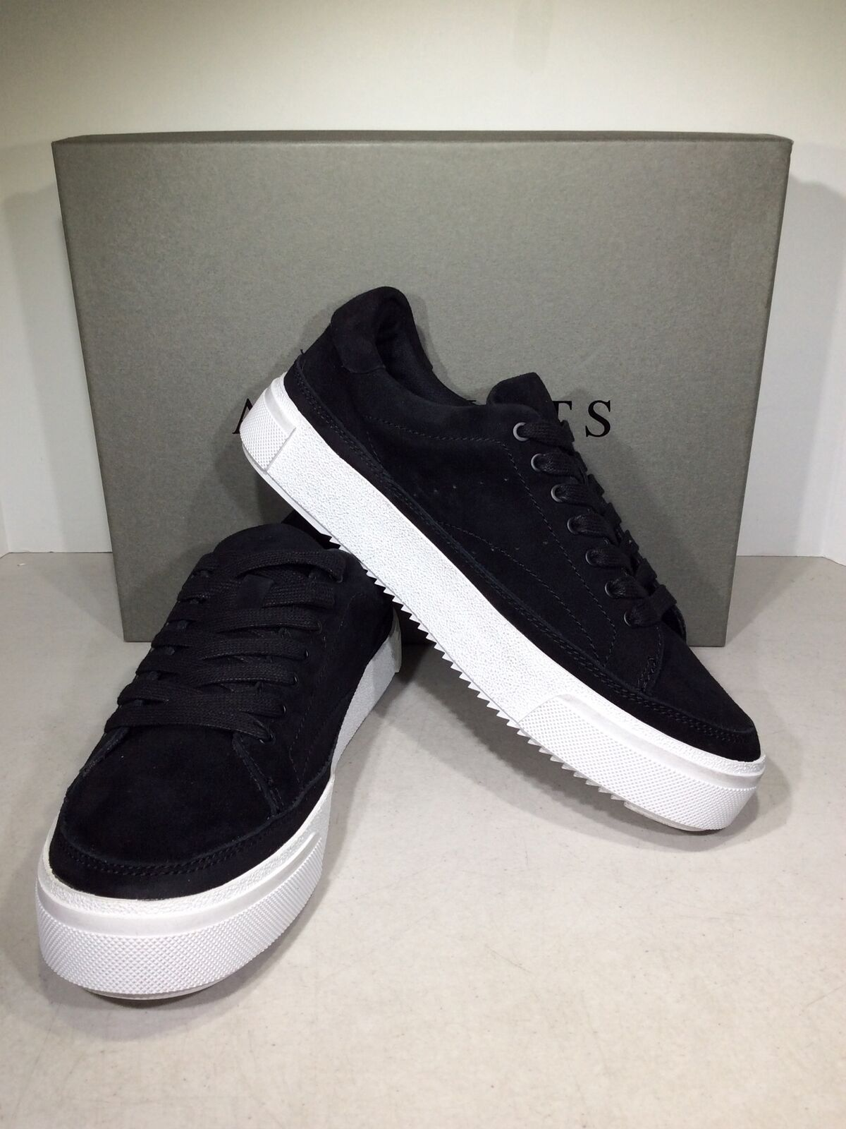 AllSaints Trish Women's Size 6/EU 37 Black Suede Casual Sneakers X6-942