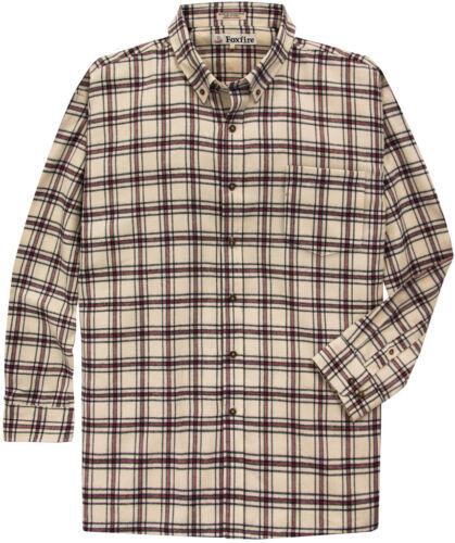 Foxfire Big /& Tall Men/'s Soft Flannel Shirt Long Sleeve 2XL 6XLT 6XL 2XLT
