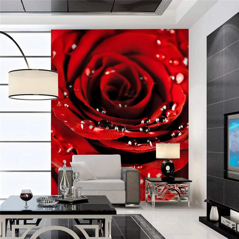 One Big Red pink Full Wall Mural Photo Wallpaper Printing 3D Decor Kid Home