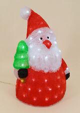 Dekobote, Acryl Weihnachtsmann H 42cm BELEUCHTET 80 LED Licht Weihnachten