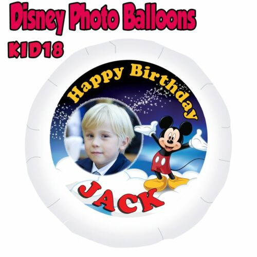 """Mickey Mouse Personalised Disney Photo Balloon 22/""""  With Your Photo /& Name"""