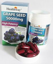 Healthway grape seed 50000 MG. High Potency Anti-Aging Dietary 100 Tablets