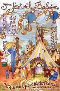 AFFICHE-BALADINS-2004-PEINTURE-amp-INFOGRAPHIE-FLEURANTIN-DIDIER-ART-NOUVEAU