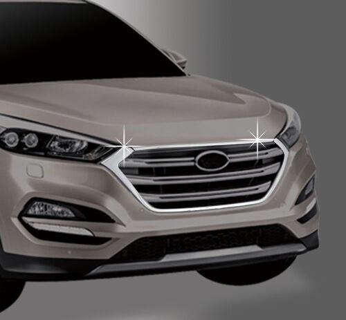 Zubehör für Hyundai Tucson 2015-2018 Chrom Grill Blenden Leisten Umrandung