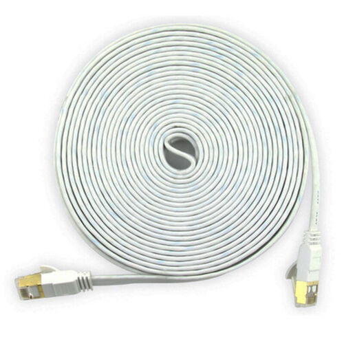 Network Cat6 Ethernets Cable Gold Ultra-thin FLAT 10Gbps SSTP LAN Leads Lot GNKH