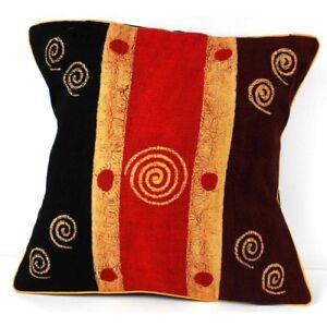 Handmade Geometric Batik Cushion Cover