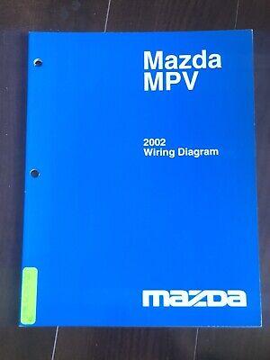 2002 Mazda MPV Minivan Electrical Wiring Diagram Manual DX ...